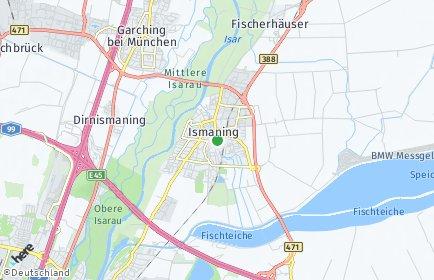 Stadtplan Ismaning