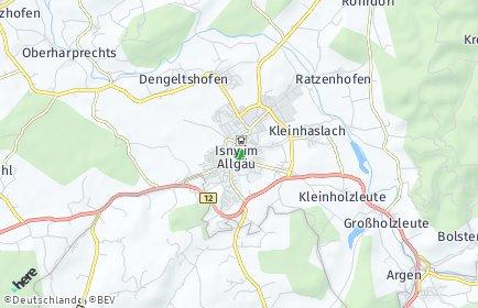 Stadtplan Isny im Allgäu