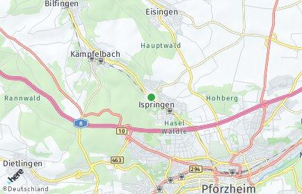Stadtplan Ispringen