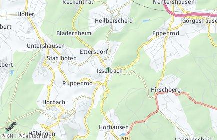 Stadtplan Isselbach