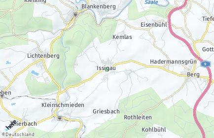 Stadtplan Issigau