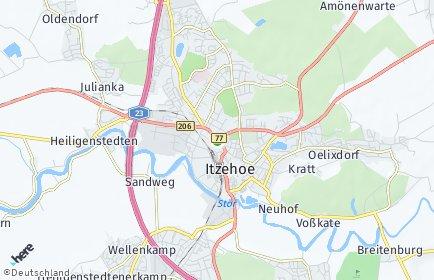 Stadtplan Itzehoe
