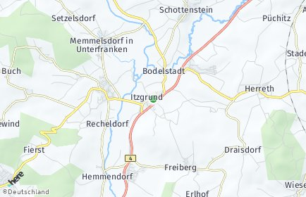 Stadtplan Itzgrund OT Merkendorf
