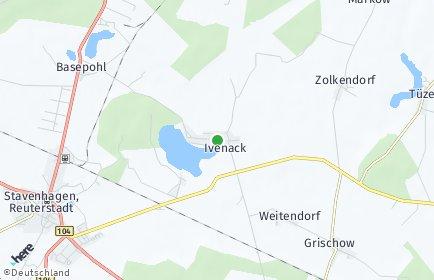 Stadtplan Ivenack