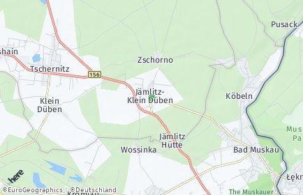 Stadtplan Jämlitz-Klein Düben
