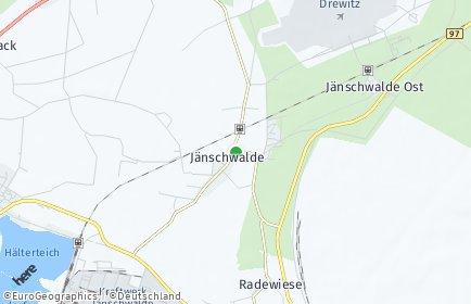 Stadtplan Jänschwalde
