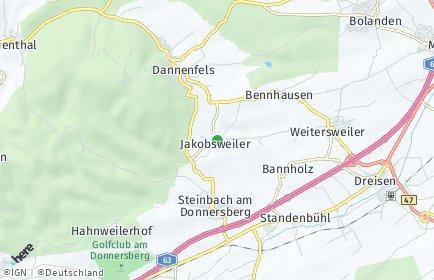 Stadtplan Jakobsweiler