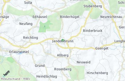 Stadtplan Jandelsbrunn
