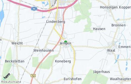 Stadtplan Jengen