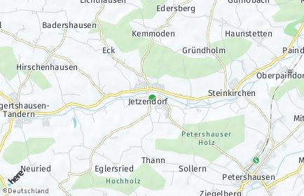 Stadtplan Jetzendorf
