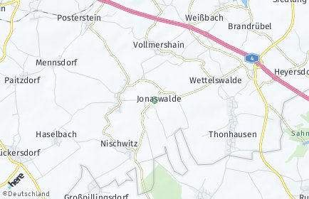 Stadtplan Jonaswalde