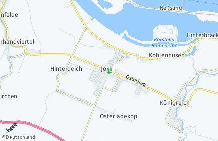 Stadtplan Jork