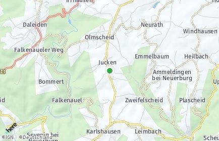 Stadtplan Jucken