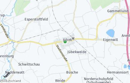 Stadtplan Jübek
