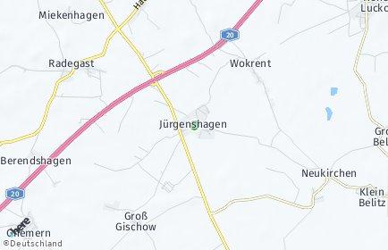 Stadtplan Jürgenshagen
