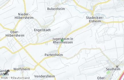 Stadtplan Jugenheim in Rheinhessen