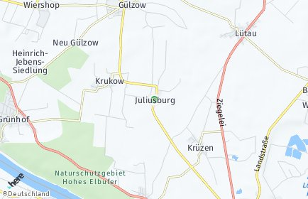 Stadtplan Juliusburg