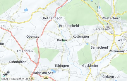 Stadtplan Kaden