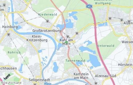 Stadtplan Kahl am Main