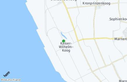 Stadtplan Kaiser-Wilhelm-Koog