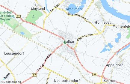 Stadtplan Kalkar