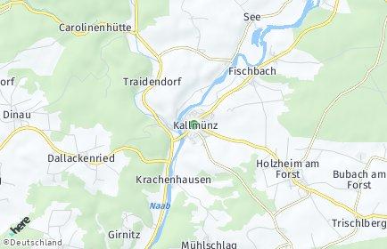 Stadtplan Kallmünz