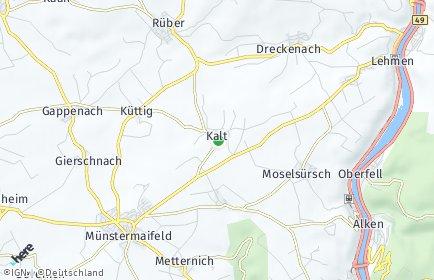 Stadtplan Kalt