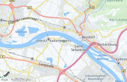 Stadtplan Kaltenengers