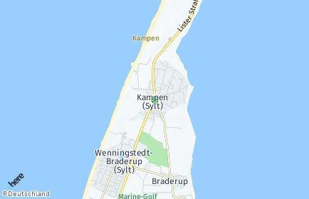 Stadtplan Kampen (Sylt)
