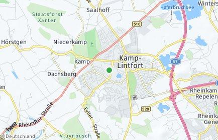 Stadtplan Kamp-Lintfort