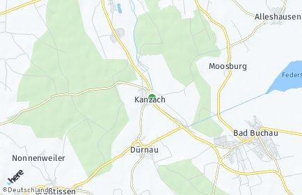 Stadtplan Kanzach bei Bad Buchau