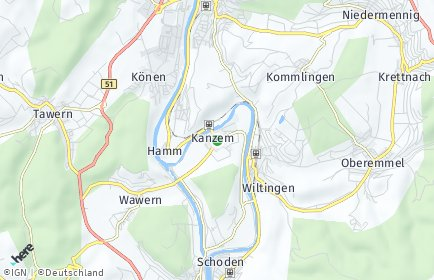 Stadtplan Kanzem