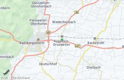 Stadtplan Kapellen-Drusweiler