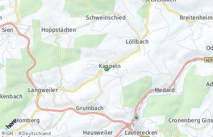 Stadtplan Kappeln bei Lauterecken