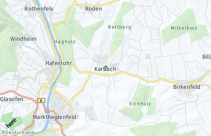 Stadtplan Karbach (Unterfranken)