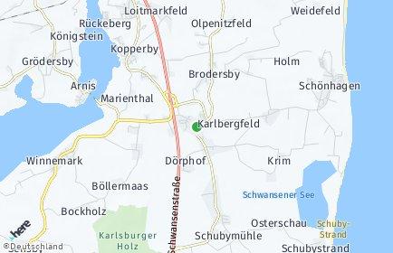Stadtplan Karby