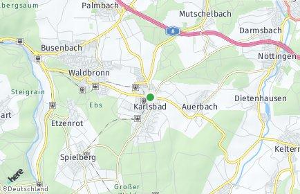 Stadtplan Karlsbad