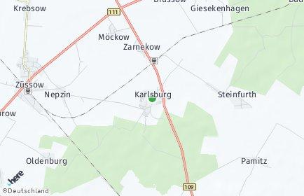 Stadtplan Karlsburg (Vorpommern)