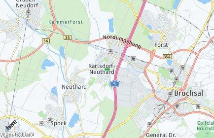 Stadtplan Karlsdorf-Neuthard