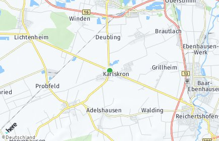 Stadtplan Karlskron