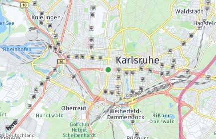 Stadtplan Karlsruhe OT Weststadt