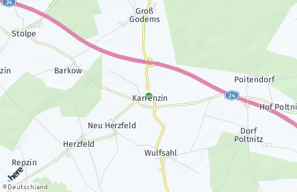 Stadtplan Karrenzin