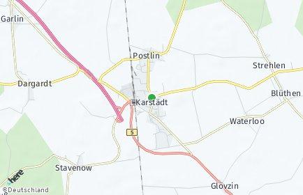 Stadtplan Karstädt (Prignitz)