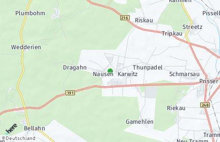 Stadtplan Karwitz