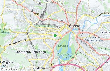 Stadtplan Kassel OT Wolfsanger-Hasenhecke