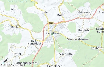 Stadtplan Kastellaun