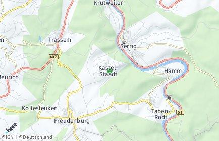 Stadtplan Kastel-Staadt