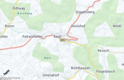 Stadtplan Kastl (Lauterachtal)