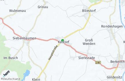 Stadtplan Kastorf