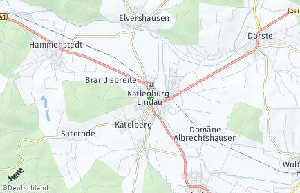 Stadtplan Katlenburg-Lindau OT Elvershausen